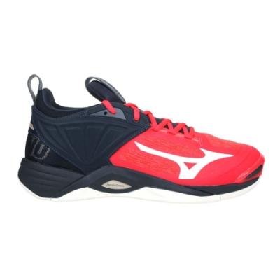 MIZUNO WAVE MOMENTUM 2 男排球鞋-訓練 美津濃 V1GA211263 橘紅黑白