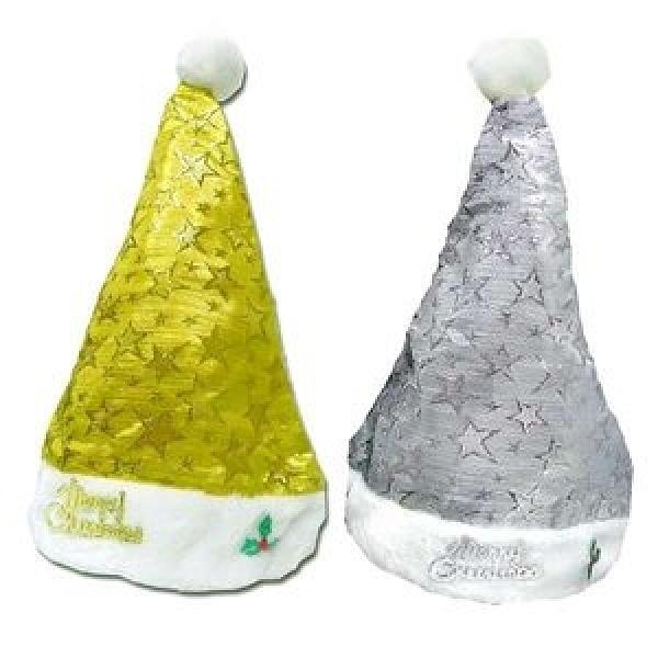 摩達客 閃亮金星+銀星聖誕帽(兩入一組) ~ 耶誕派對造型