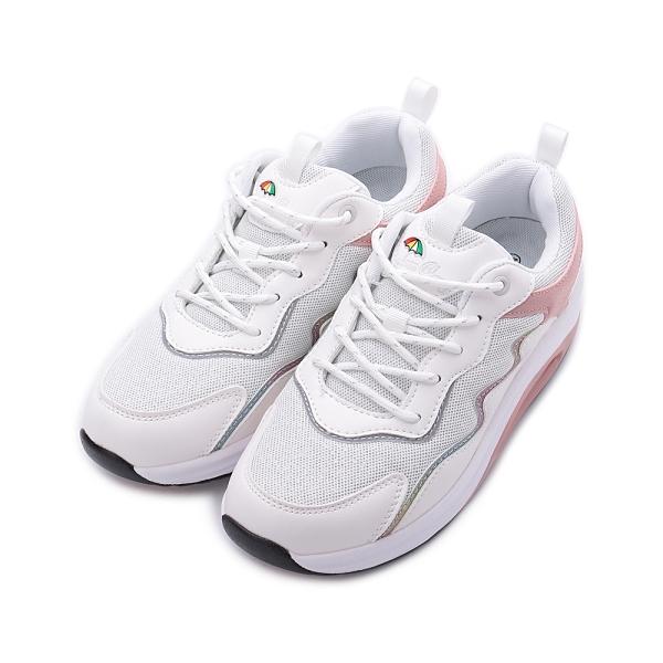 LEON CHANG 雨傘牌 炫彩氣墊健走鞋 白 LAL7720 女鞋