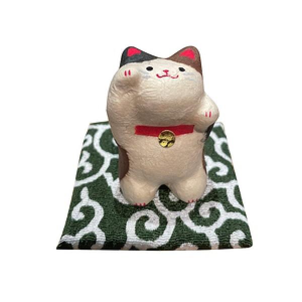 京都職人和紙迷你招財猫 二毛