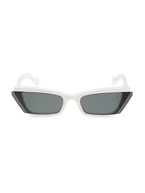 Inside Story 67MM Cat Eye Sunglasses