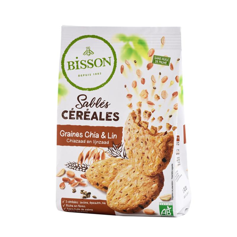 [Bisson貝森] 法國奇亞籽亞麻燕麥餅 (200g/盒)