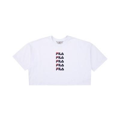 FILA #架勢新潮 女短袖圓領T恤-白色 5TEV-1427-WT