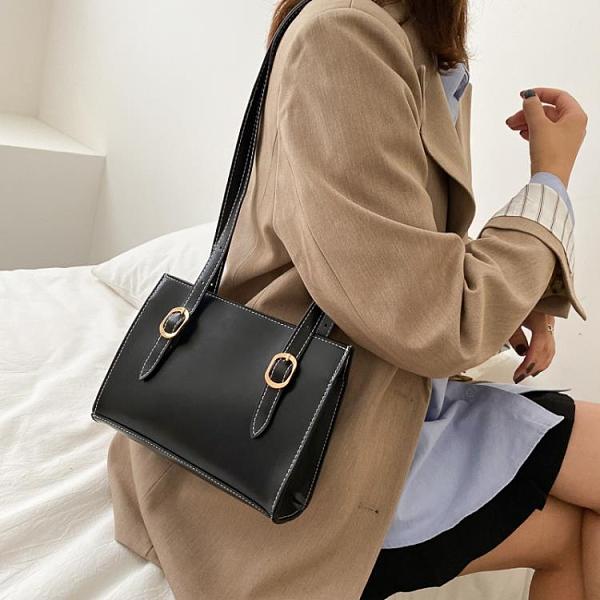 2021新品促銷 韓版小眾設計簡約腋下單肩包女夏季新款休閑百搭大容量托特包