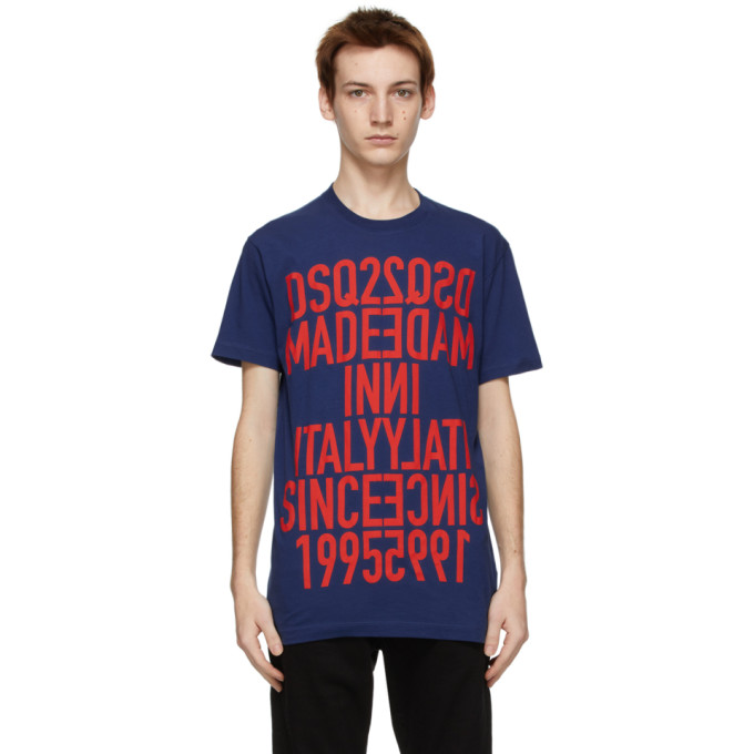 Dsquared2 海军蓝 Reverse Cool T 恤