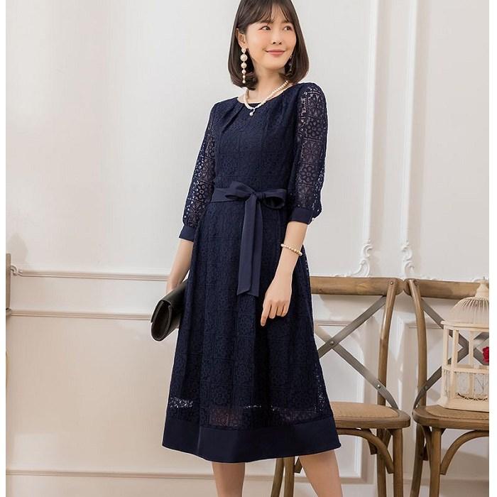 灰姑娘[88351-S]高雅七分袖腰綁結尾牙春酒正式長洋裝