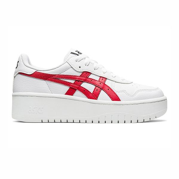 Asics Japan S Pf [1202A024-101] 女鞋 運動 休閒 時尚 厚底 復古 籃球 亞瑟士 白 紅