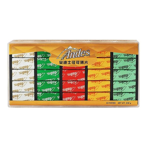 美國 安迪士Andes 可可薄片造型禮盒(236g)【小三美日】D940145