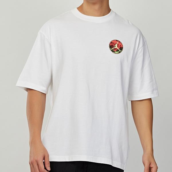 Nike AS Sprt Dna SS Jordan Crew 男款 白 喬丹 籃網 圖案 短袖 CT3656-100