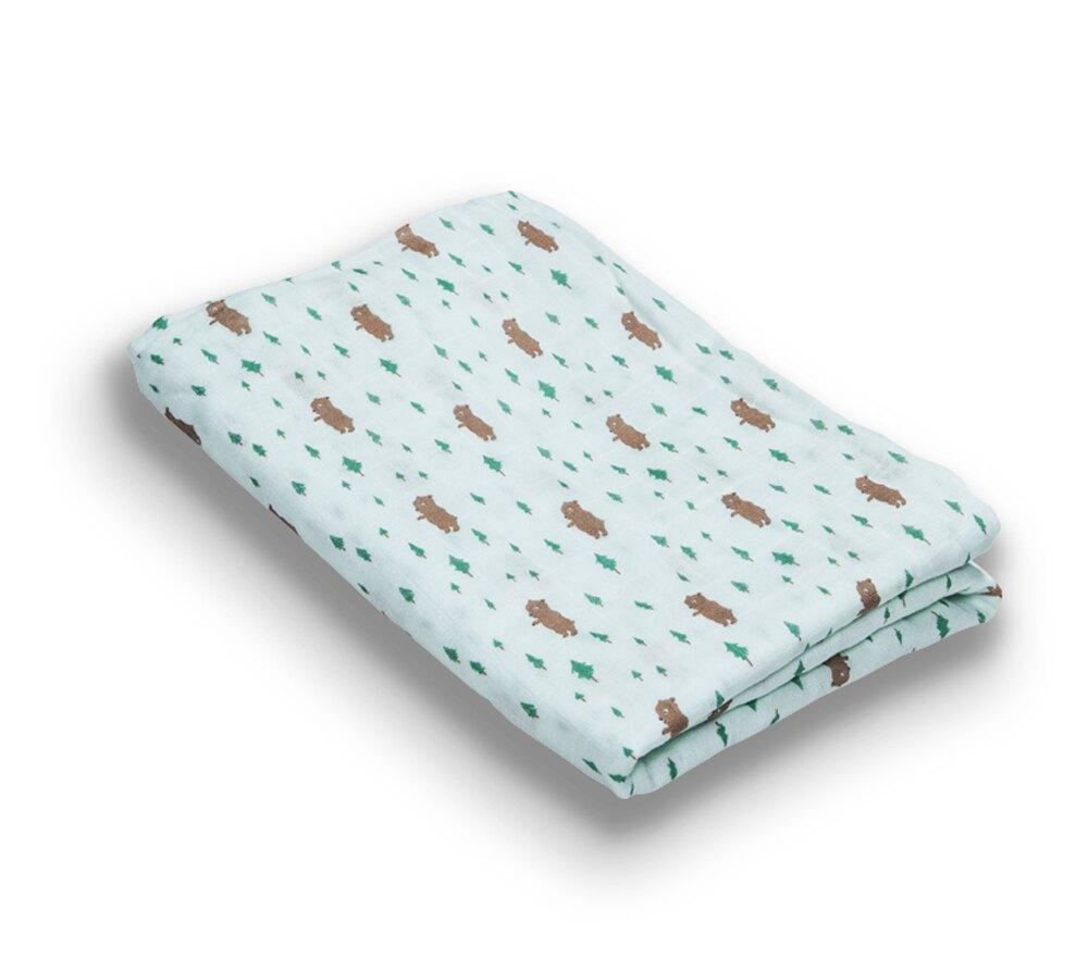 Organic B 有機比比 嬰兒有機棉紗包巾-小熊森林家