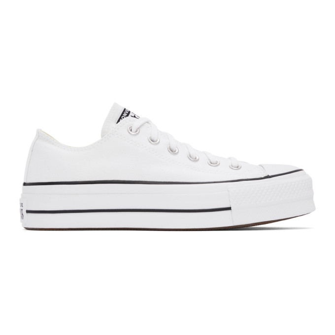 Converse 白色 Chunk Taylor All Star Lift 运动鞋