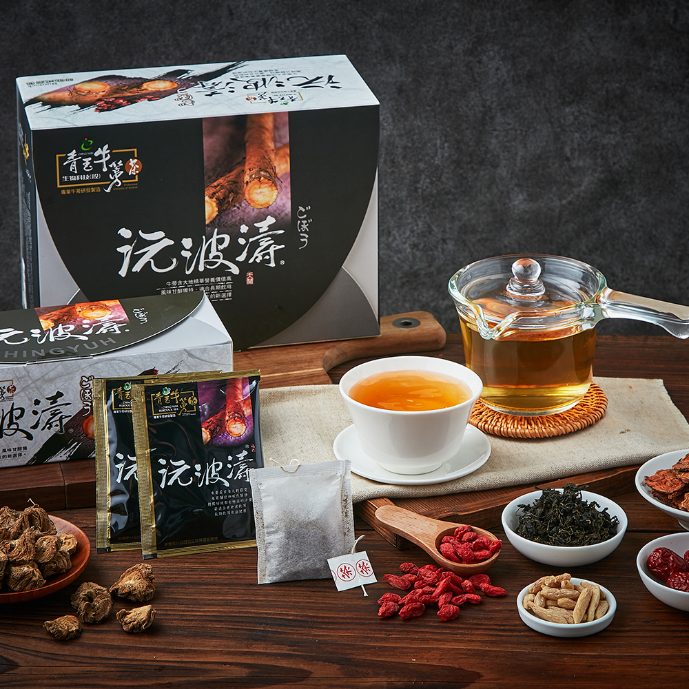 青玉牛蒡茶 沅波濤紅景天牛蒡茶包(6g*50包/盒)