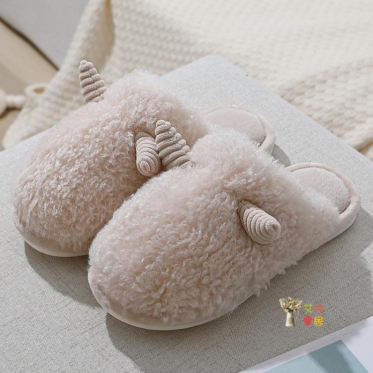 棉拖鞋 冬季棉拖鞋男包跟家居家用厚底防滑毛毛保暖室內情侶可愛拖鞋女
