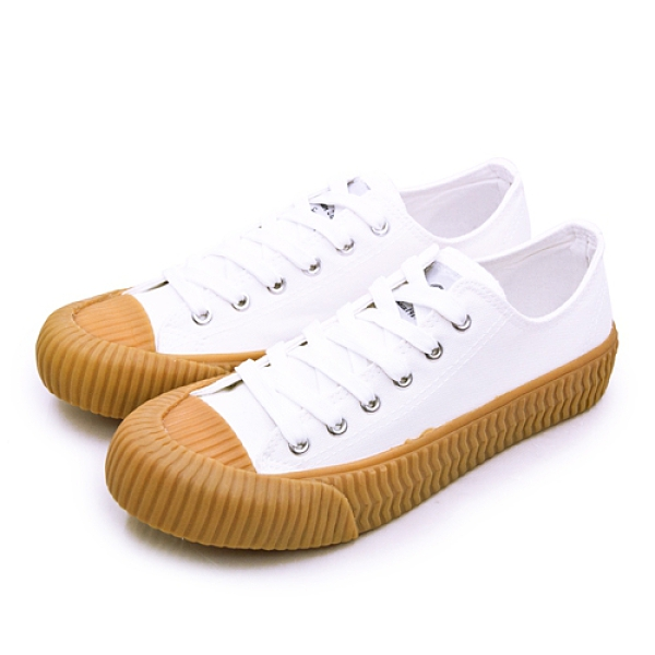 LIKA夢 ARNOR 韓系帆布餅乾鞋 cookie系列 白棕 93029 男