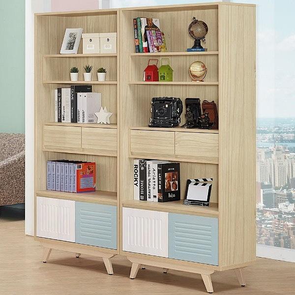 書櫃 AM-517-55 藍儂5.4尺書櫃 【大眾家居舘】
