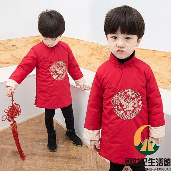 拜年服兒童新年裝棉衣過年衣服喜慶冬【創世紀生活館】
