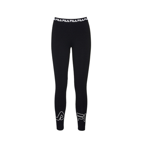FILA #NEWTRO MANIA 針織合身長褲-黑色 5PNV-1430-BK
