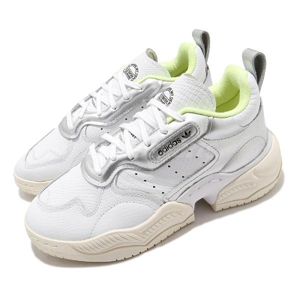 【海外限定】adidas 休閒鞋 Supercourt RX 白 銀 女鞋 老爹鞋 厚底 運動鞋 【ACS】 FV3667
