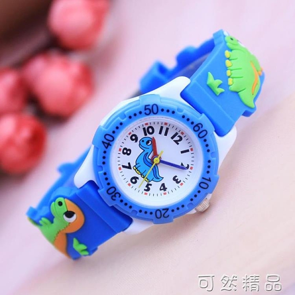 可愛卡通小恐龍男孩女孩手錶 小學生幼童生日禮物 兒童電子腕表 可然精品
