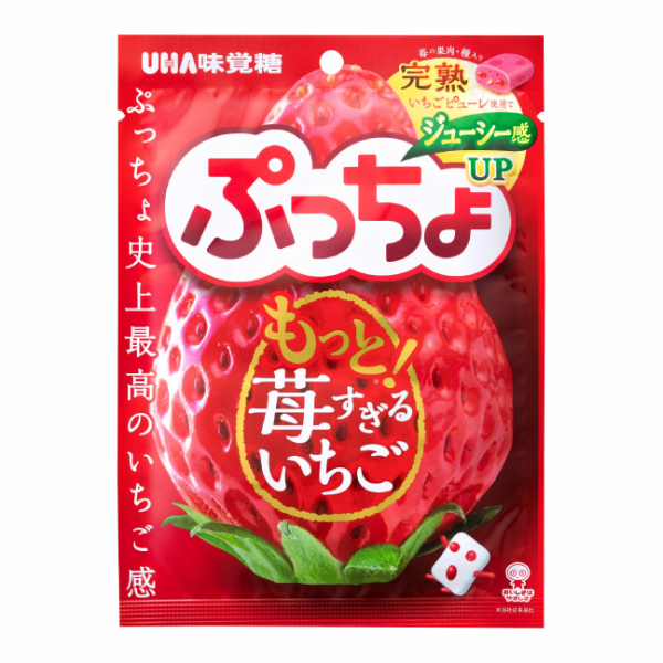 【江戶物語】味覺糖 噗啾 草莓風味軟糖 噗啾草莓軟糖 普超軟糖 日本進口 喜糖 婚禮糖果 年貨 拜拜 日本糖果