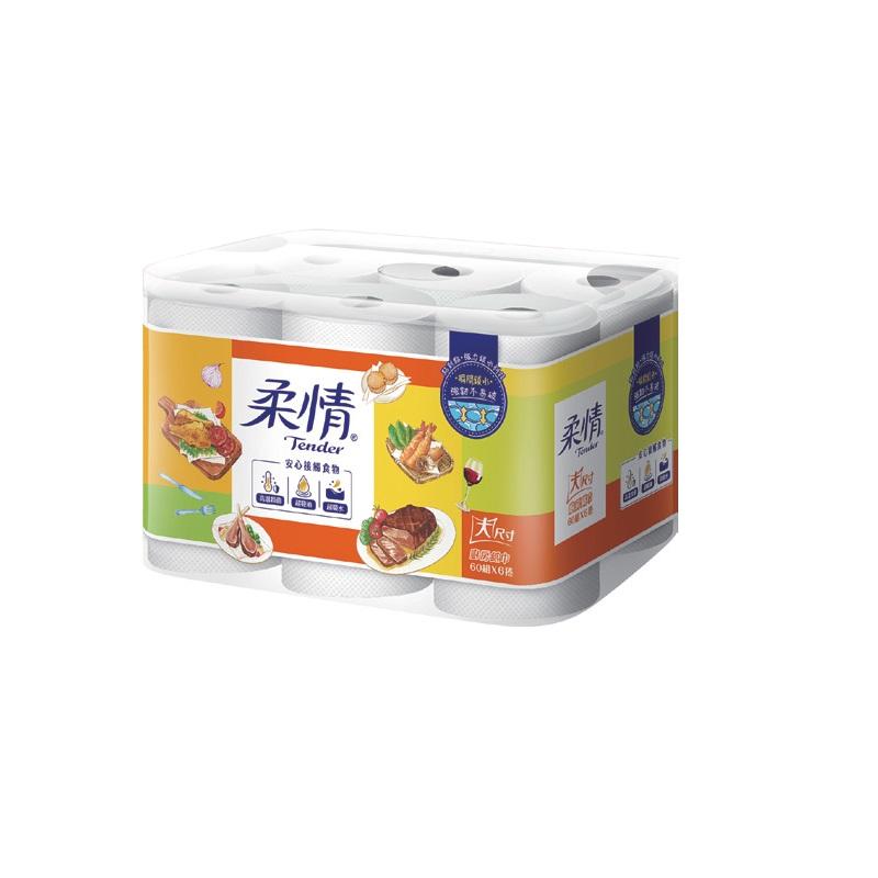 柔情廚房紙巾60PCx6
