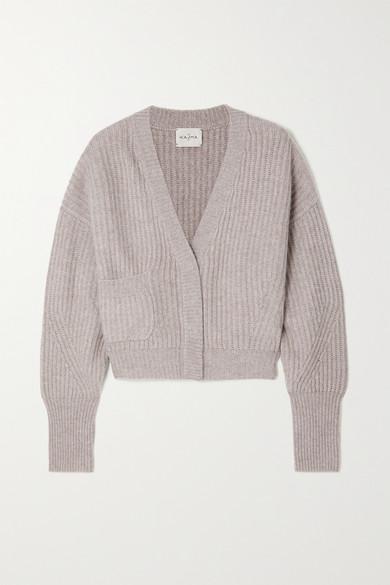 Le Kasha - Monaco 罗纹羊绒开襟衫 - 浅棕色 - One size