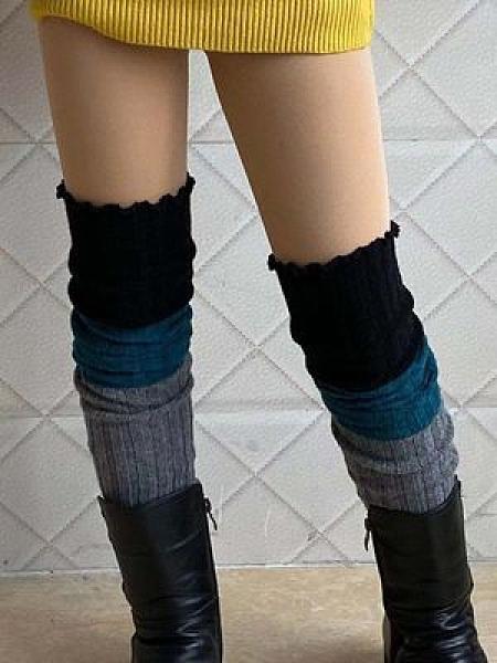 秋冬條紋襪套女多款襪套過膝腿套靴套踩腳高筒襪長筒保暖護膝護腿