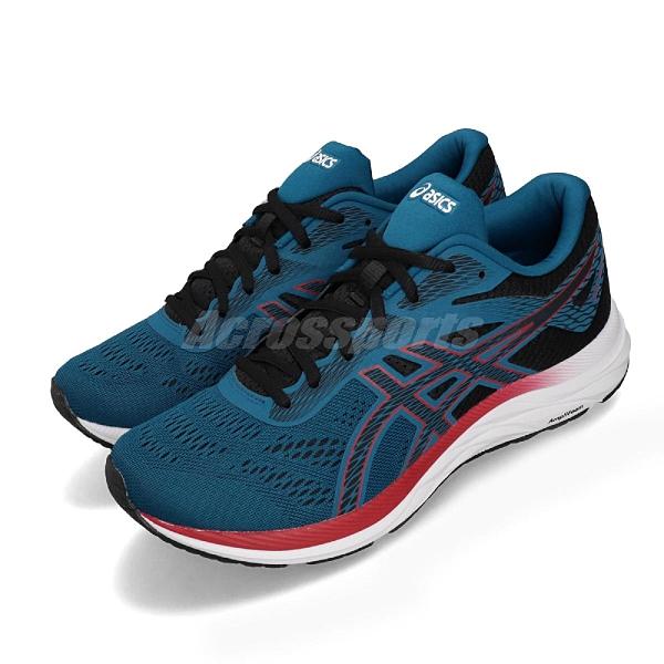 Asics 慢跑鞋 Gel Excite 6 藍 紅 男鞋 運動鞋 【ACS】 1011A165402