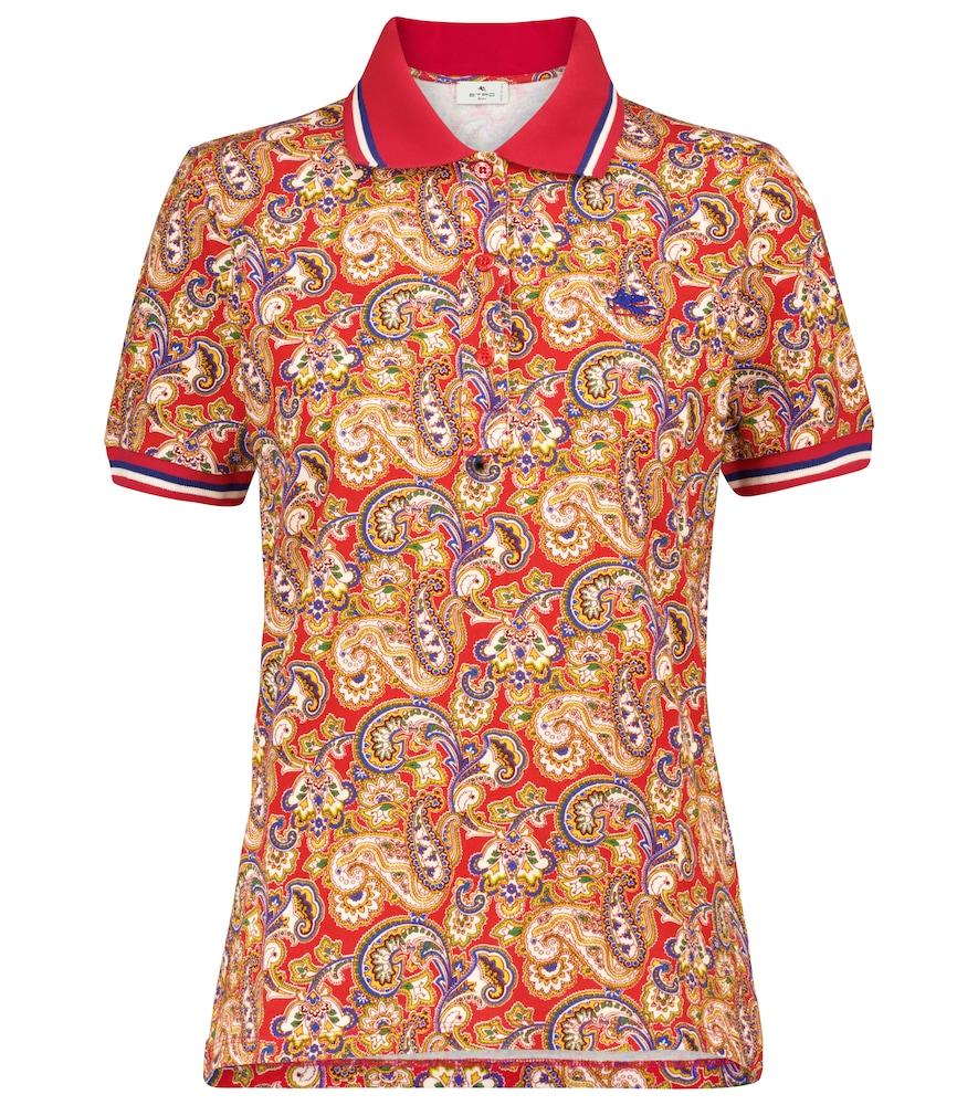 Paisley stretch-cotton polo shirt