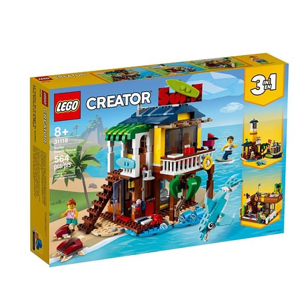 31118【LEGO 樂高積木】Creator 創意大師系列 - 衝浪手海灘小屋