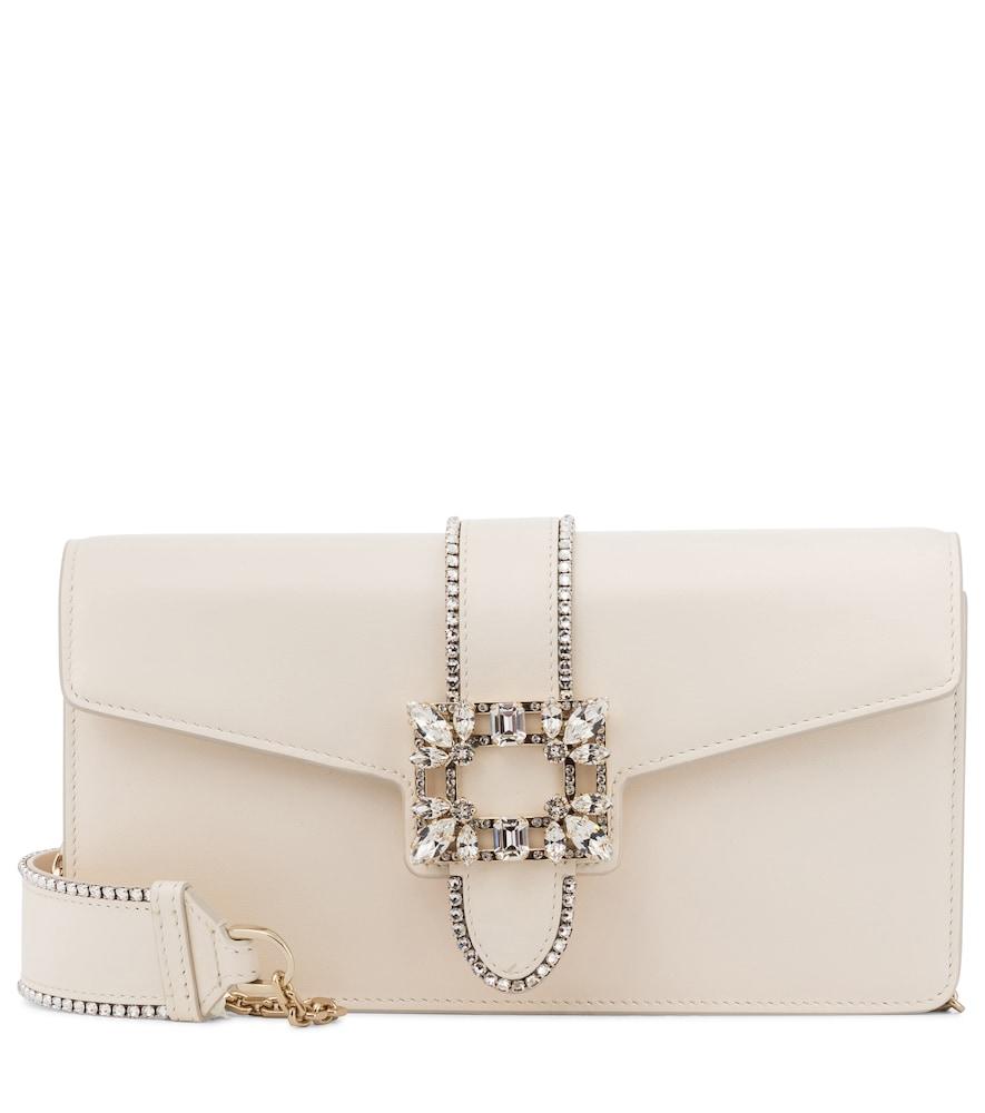 Miss Vivier embellished leather shoulder bag