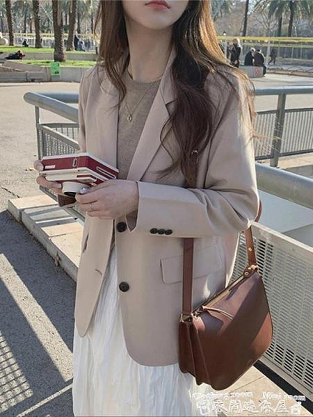 西裝外套錢晉韓國chic冬季新款西裝小個子寬鬆顯瘦百搭休閒西服短款外套女 衣間迷你屋