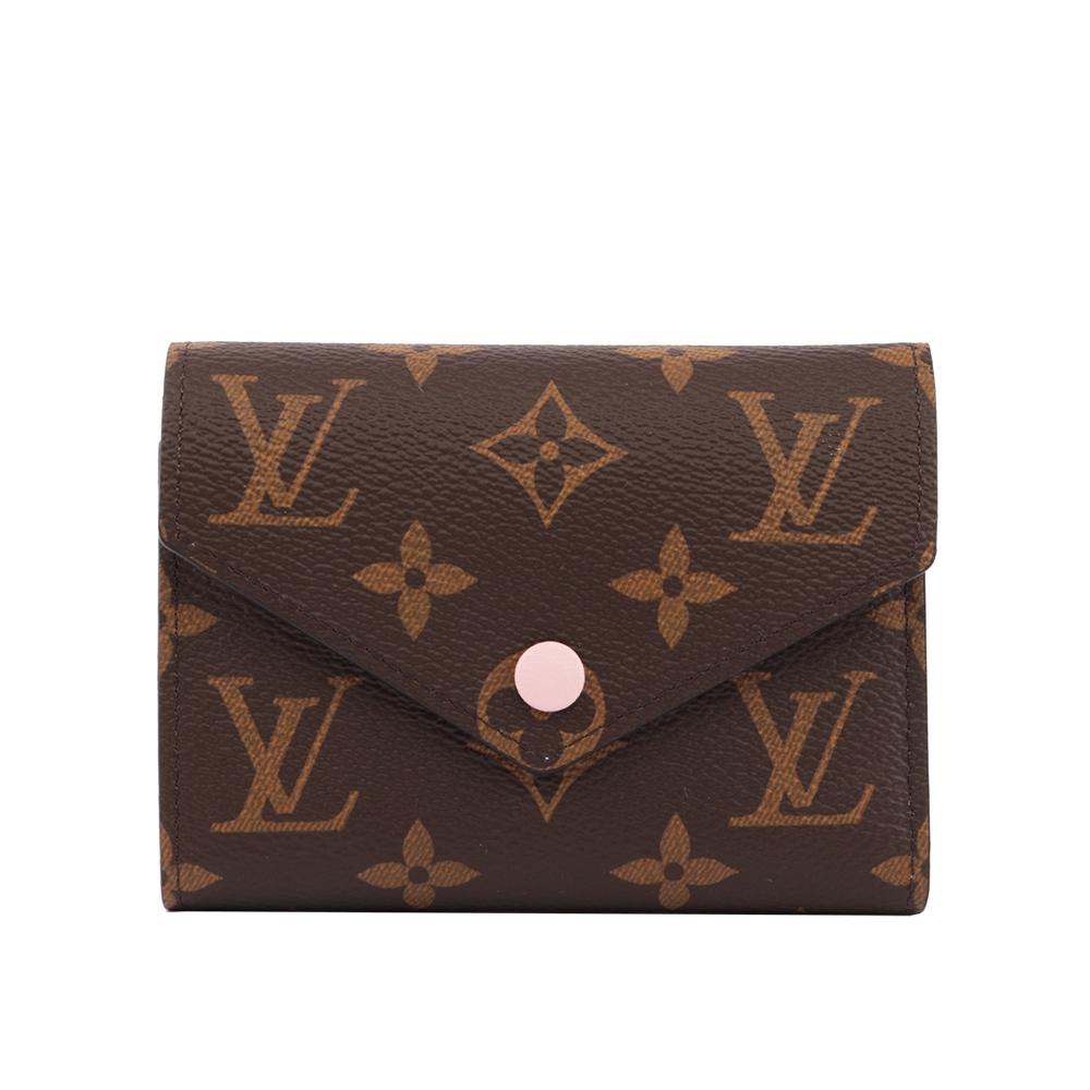 LV Monogram VICTORINE三折短夾(粉色) M62360