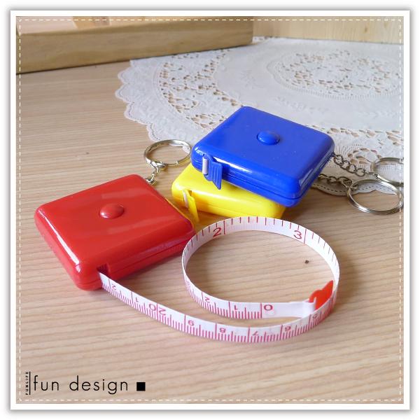 方形糖果捲尺 自動伸縮捲尺 150公分 量尺 皮尺 捲尺鑰匙圈 可客製化印字