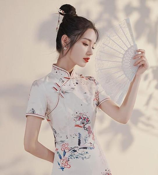 改良版旗袍秋裝新款國潮