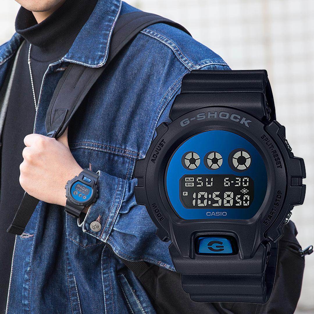 【下單抽・富士山杯】G-SHOCK DW-6900MMA-2 街頭強悍數位電子橡膠腕錶/黑x藍 DW-6900MMA-2DR 手錶 熱賣中!