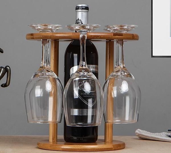 酒杯架 實木歐式創意倒掛紅酒杯架子擺件家用高腳水杯架葡萄酒懸掛酒瓶架【快速出貨八折搶購】