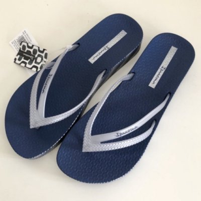 **IPANEMA**巴西厚底拖鞋(BOSSA森巴舞曲  厚底人字夾腳拖鞋) 深藍色