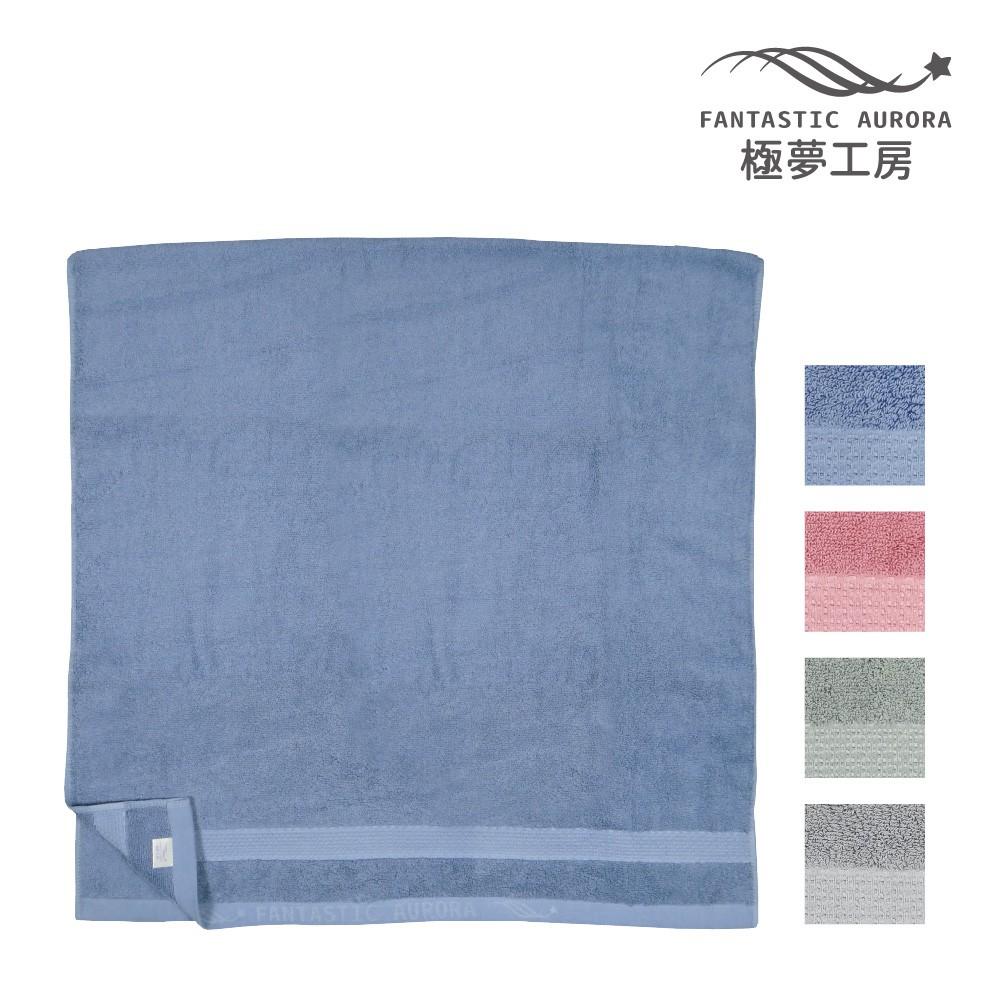 【極夢工房】歐風緞檔浴巾-4色 70x140cm 100%棉 台灣製造