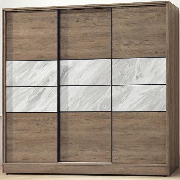 衣櫃 衣櫥 AT-515-8 北海道古橡色7.5X7尺衣櫃【大眾家居舘】