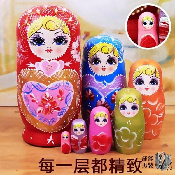 俄羅斯套娃 特色俄羅斯7層套娃另有10層卡通可愛兒童玩具哈