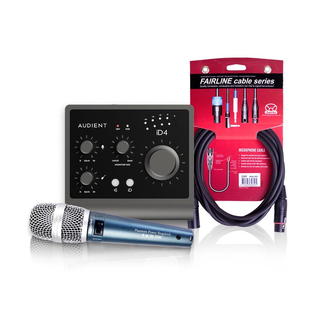 Audient iD4 (MKII) 錄音介面 宅錄入門套餐 總代理公司貨