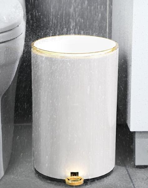垃圾桶 輕奢風垃圾桶不銹鋼帶蓋家用客廳高檔腳踩廚房衛生間廁所北歐創意