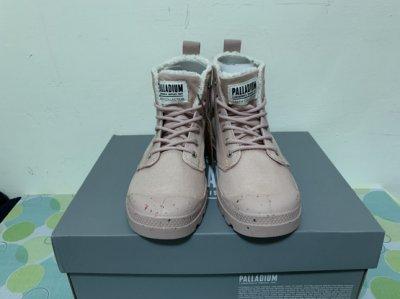 PALLADIUM 內裡刷毛 鞋墊抗菌 玫瑰色休閒鞋 女鞋 全新商品 零碼便宜賣$990