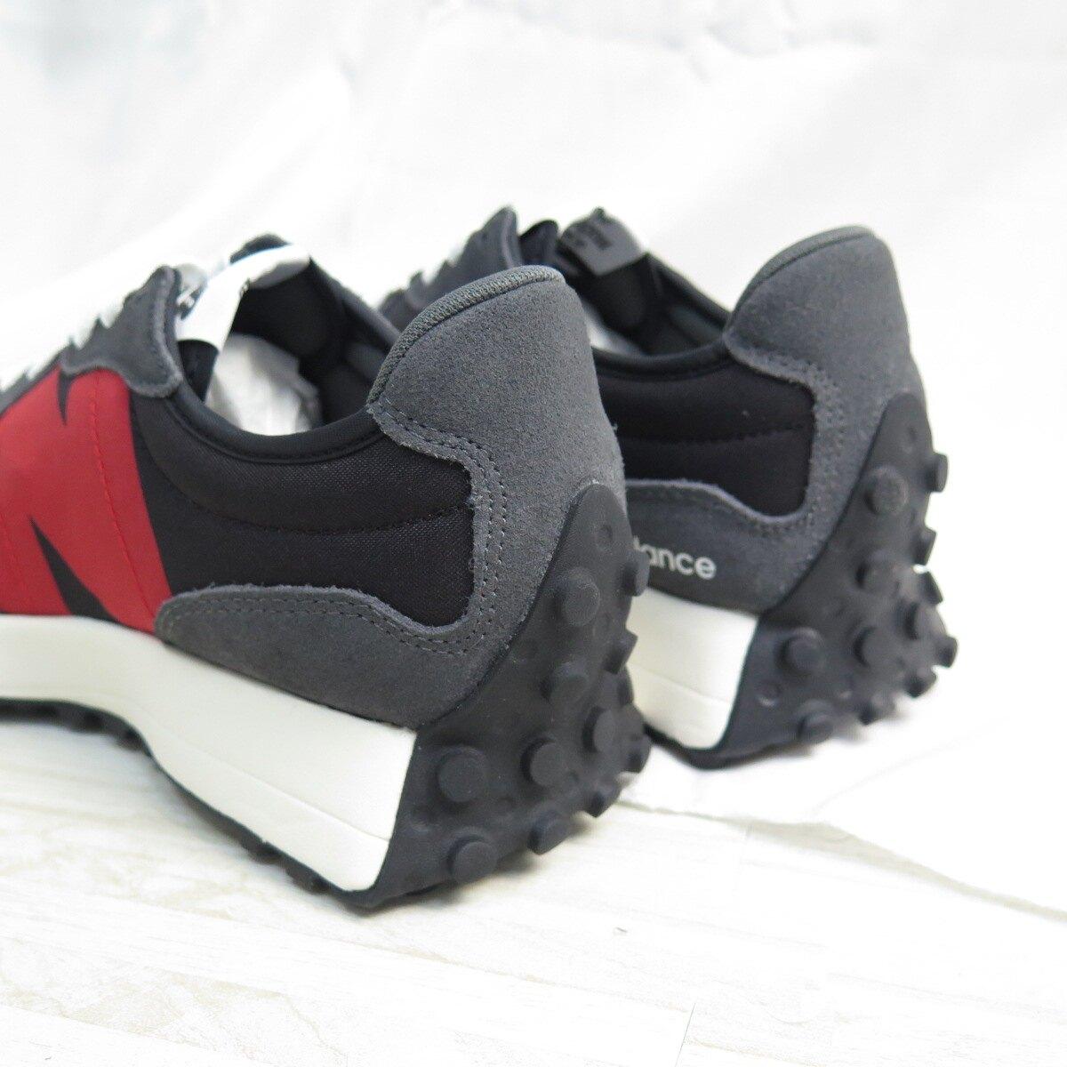 New Balance 327 男款 復古休閒鞋 運動鞋 公司貨 MS327FF 灰紅黑【iSport愛運動】