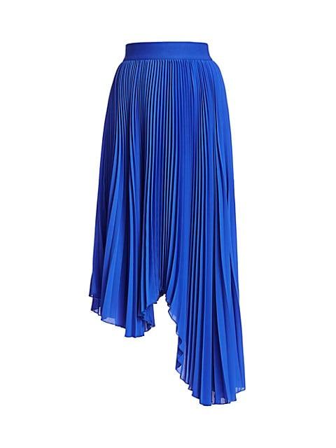 Koryn Asymmetrical Pleated Midi Skirt