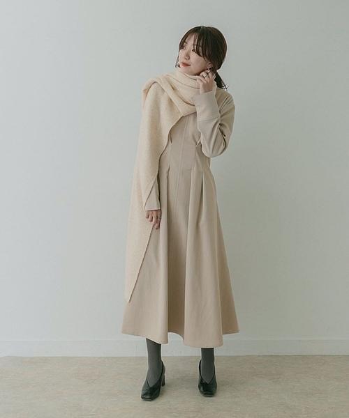 純色洋裝 韓國chic 日韓純色顯瘦氣質長袖連身裙女9611 跨122-C 韓依紡