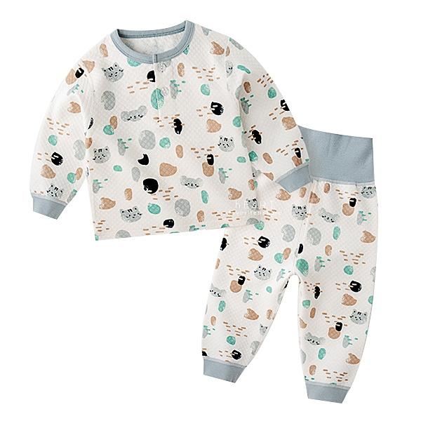 圓領高腰護肚長袖睡衣套裝 猫和老鼠 童裝 睡衣套裝