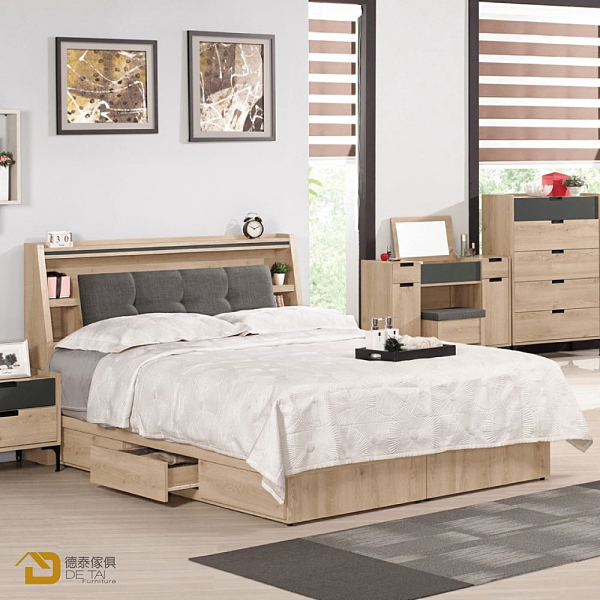 D&T 德泰傢俱 Smeg5尺被櫥式雙人床 A002-511-2