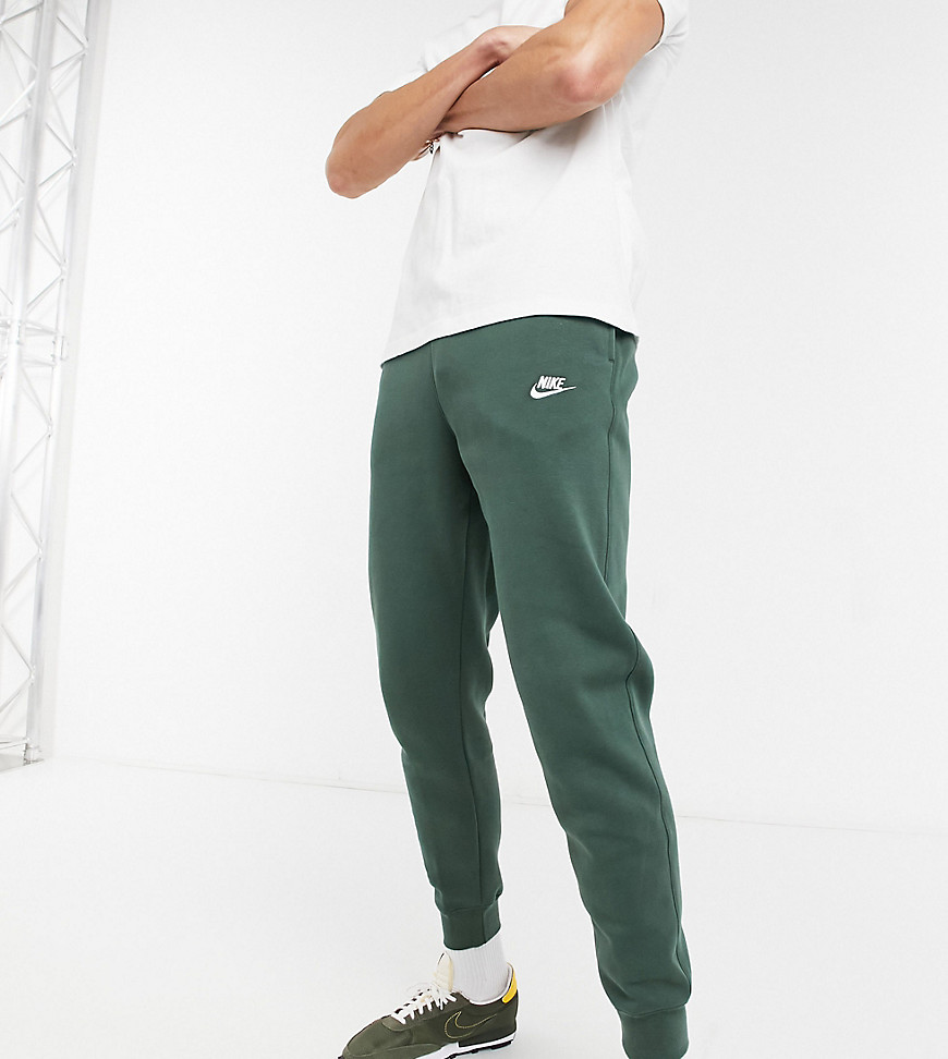 Nike Tall Club cuffed joggers in khaki-Green